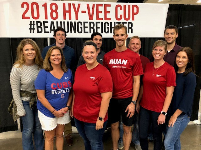 Ruan Volunteers at Hy-Vee Cup