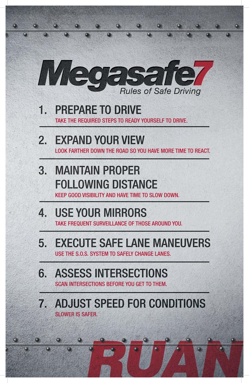 megasafe7 rules of safe driving